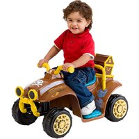 Kid Trax Disney Jake and the Never Land Pirates Quad 6V Battery-Powered Ride-On