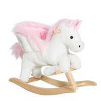 Qaba Ride toy animal gift nursery rhymes horse stuffed cotton fabric primary toddler musical calming comfortable pony