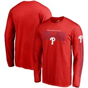 1b19bde95 Philadelphia Phillies Fanatics Branded Front Line Long Sleeve T-Shirt - Red