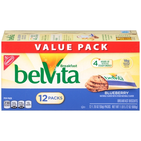 BelVita Blueberry Crunchy Breakfast Biscuits, 21.1 Oz. ()
