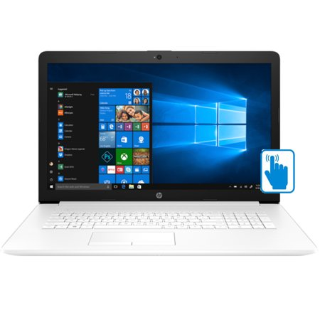 "HP 17z High Performance 17.3 HD+ TouchScreen Laptop (AMD Ryzen 3 2200U, 8GB RAM, 1TB HDD, 17.3"" HD (1600 x 900) Touch, AMD Radeon Vega 3, DVD, WiFi, Bluetooth, Win 10 Home) White"