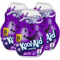 (12 Pack) Kool-Aid Grape Liquid Drink Mix, 1.62 fl oz Bottle