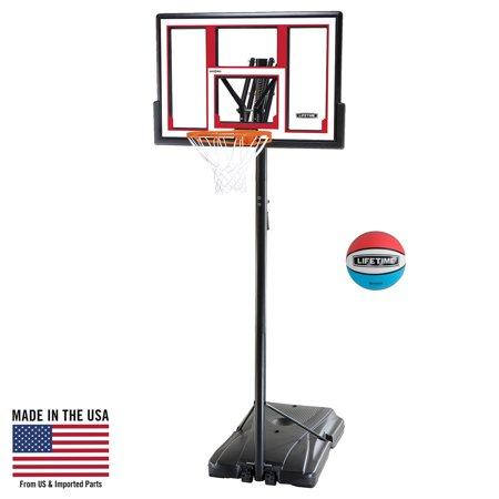 Lifetime Adjustable Portable Basketball Hoop (Rubber Basketball Included), 90491](Cheap Basketball Hoop)