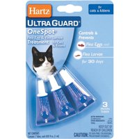 Hartz UltraGuard OneSpot Flea Treatment for Cats & Kittens, 3 Treatments