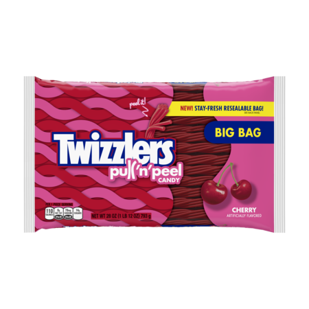 Twizzlers, Pull 'n' Peel Cherry Licorice Chewy Candy, 28 Oz.