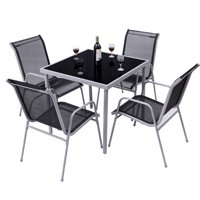 Costway 5 PCS Bistro Set Garden Set of Chairs and Table Outdoor Patio Furniture