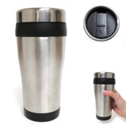 98348c21cb0 16oz Cup Insulated Coffee Travel Mug Stainless Steel Double Wall Thermos  Tumbler