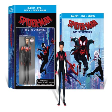 Spider-Man: Into the Spider-Verse (Walmart Exclusive) (Blu-Ray + DVD + Digital Copy + Action Figurine)
