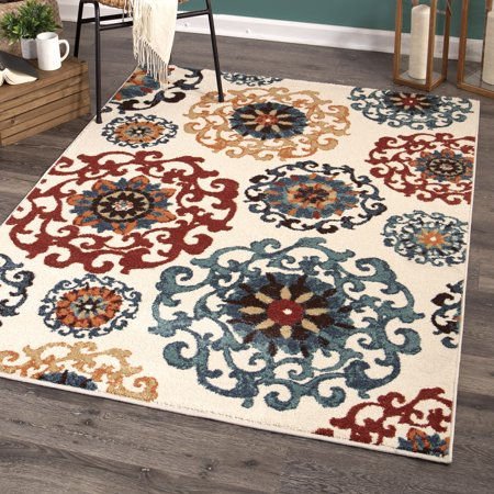 Better Homes and Gardens Suzani Area Rug or Runner (Floor Runners By The Foot)