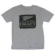 f2840f28a64 Miller Genuine Draft Beer Mens T-Shirt - Classic Genuine Draft Logo on Gray  (