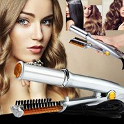 4113af3b3dc2 Professional 3-Mode 2-Way Rotating Curling Iron Hair Brush Curler  Straightener Salon Hairdressing