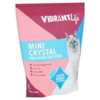 Vibrant Life Mini Crystal Unscented Cat Litter, 8 lb