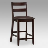 Linon Triena Collection Soho Counter Stool, Espresso, 24 inch Seat Height