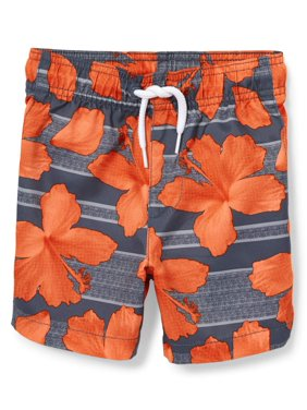 Baby And Toddler Boys Printed Swim Trunks