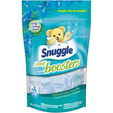 (3 pack) Snuggle Scent Boosters Concentrated Scent Pacs, Blue Iris Bliss, 26 Count
