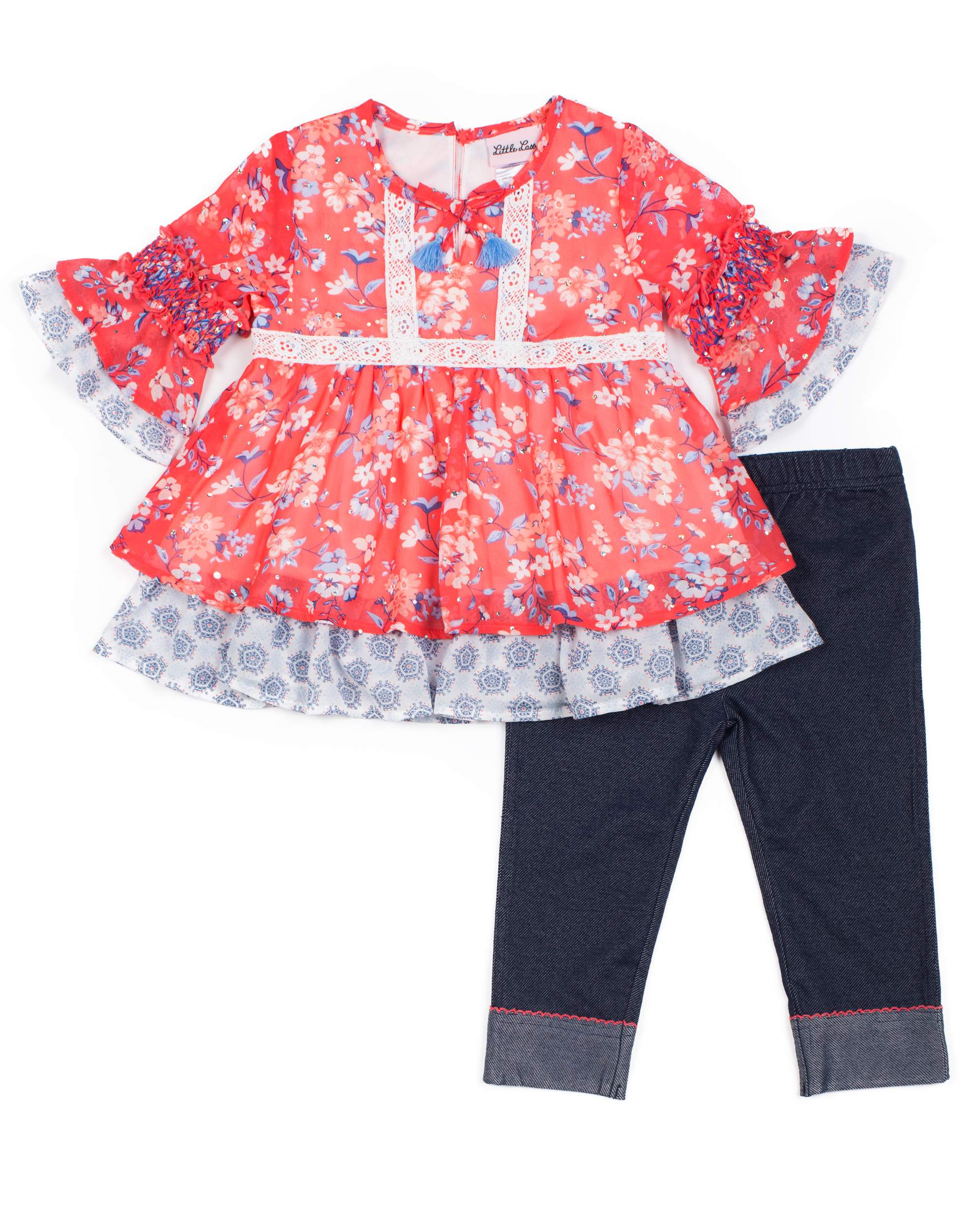 Girls I/'m Bringing Sass to the Class Pink Sequin Skirt Outfit Accessories 4t-9