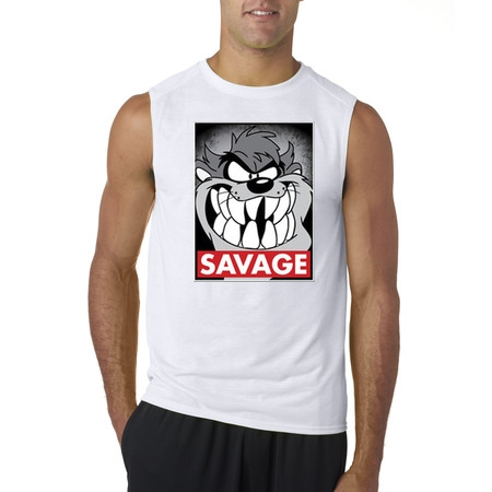 New Way 418 - Men's Sleeveless Savage Tazmanian Devil Taz Looney Toons - Taz Halloween