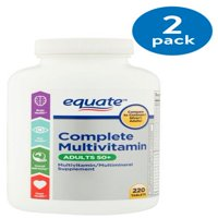 (2 Pack) Equate Complete Adults 50+ Multivitamin, 220 Ct