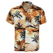 bfea0ca4a Men's Hawaiian Tropical Luau Aloha Beach Party Button Up Casual Dress Shirt  (Agate Green,