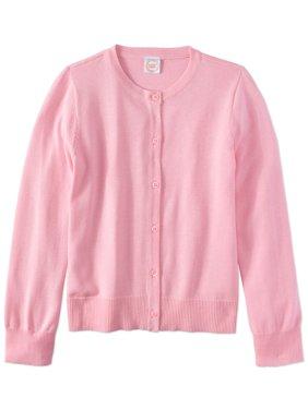 Girls School Uniform Knit Cardigan