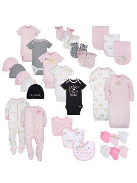 Layette Essentials Baby Shower Gift Set, 30pc (Baby Girl)