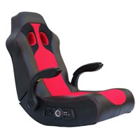 X Rocker Vibe 2.1 Bluetooth Gaming Chair Rocker, Black/Red, 5172801