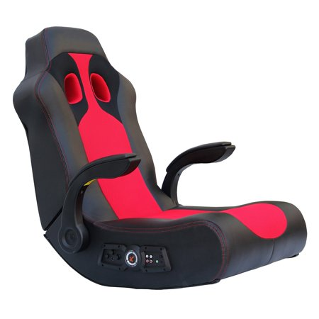 X Rocker Vibe 2.1 Bluetooth Gaming Chair Rocker, Black/Red, 5172801 - Lee Rocker Black Cat Bone
