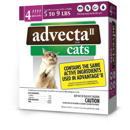 Advecta II Flea Treatment for Small Cat, 4 Monthly