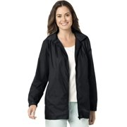 81b4e061564 Woman Within Plus Size Zip Front Nylon Jacket