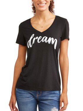 Dream V Neck Graphic Tee Women's