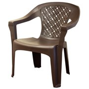 Adams Mfg Corp Resin Big Easy Woven Stacking Chair Ast