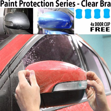 Perfect Fit PreCut Sheets Paint Protection Clear Bra Film Kit (Mirrors Only) for 2017 Kia Optima Sedan