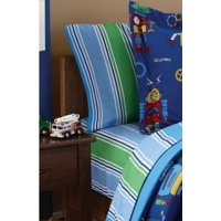 Mainstays Kids Stripes Coordinating Printed Sheet Set