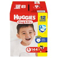 Huggies Snug & Dry Diapers Size 6 - 144 ct. ( Weight 35+ lbs.) - Bulk Qty, Free Shipping - Comfortable, Soft, No leaking & Good nite Diapers