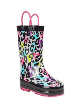 Western Chief Groovy Leopard Girls' Rain Boot