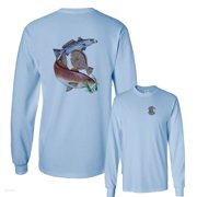 Inshore Slam with Flounder Flatfish Fishing Long Sleeve T-Shirt