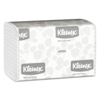 Kleenex Multi-Fold Paper Towels, 9 1/5 x 9 2/5, White, 150/Pack, 16 Packs/Carton