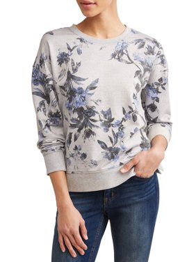 Floral Printed Crewneck Sweatshirt Women's