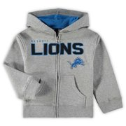 Detroit Lions Toddler Fan Gear Stated Full Zip Hoodie - Gray 70928c5e4