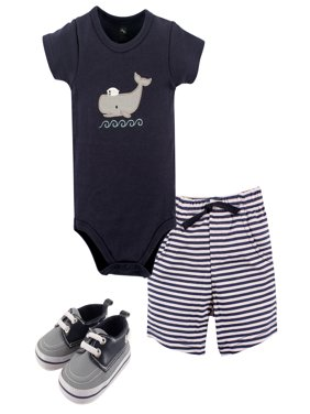 Boy Bodysuit, Shorts and Shoes