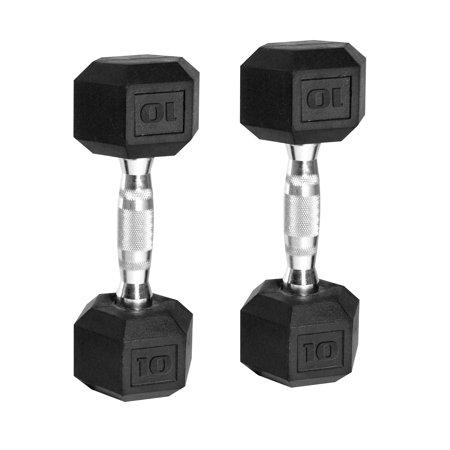 CAP Barbell Coated Hex Dumbbells, Set of 2 20lbs -