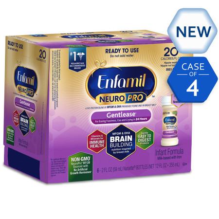 - Enfamil Gentlease NeuroPro Baby Formula, (24 Count) 2 fl oz Nursette Bottles