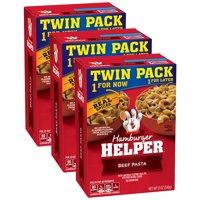 (3 Pack) Betty Crocker Hamburger Helper Beef Pasta and Sauce Mix, 12 oz