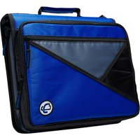 Case-It Universal 2-Inch Zipper Binder, Holds 13 Inch Laptop, Blue, LT-007-BL
