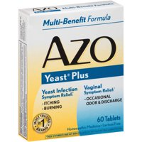 AZO Yeast Plus Infection & Vaginal Symptom Relief Tablets, 60 Ct