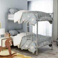 Merax Twin Over Twin Metal Bunk Bed, Multiple Colors