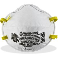 3M 8210PLUS N95 Particulate Respirator, White, 20 / Box (Quantity)