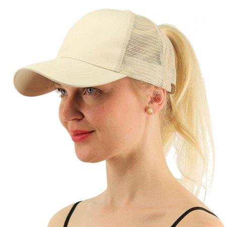 2018 Ponytail Baseball Cap Women Messy Bun Hat Snapback