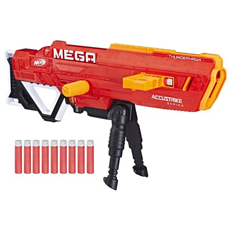 Nerf N-Strike Mega Accustrike Thunderhawk with 10 Nerf Mega