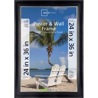 Mainstays 24x36 2-Tone Poster Frame, Black with Champagne